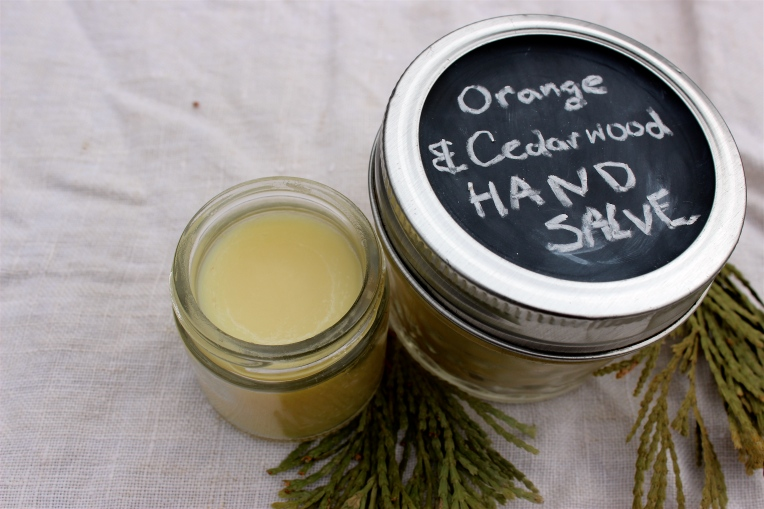 Orange & Cedarwood Hand Salve Recipe by Deconstruction Crafts