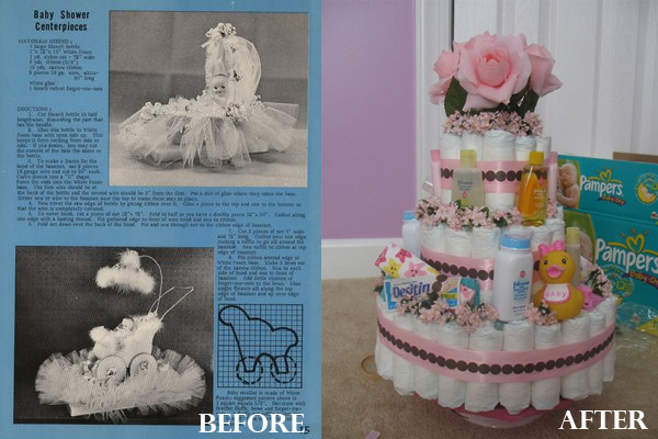 baby shower before and after