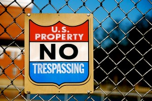 US Property No Trespassing