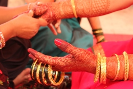 Ai's bangle application ceremony