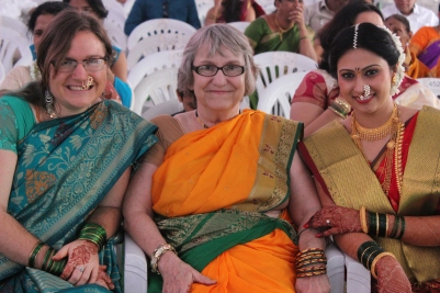Me, my mom, and the bride, Shweta
