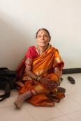 Aagi (grandmother), sitting like a lotus as usual.