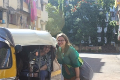 Mom and I in a rickshaw