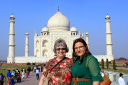 Mom and I in Agra